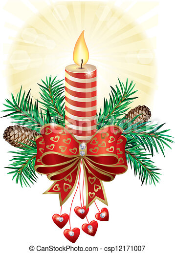 Bougie Noel 10 Contient Eps Object Noel Candle Illustration Transparent Canstock