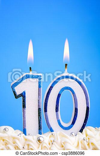 bougies, anniversaire - csp3886096
