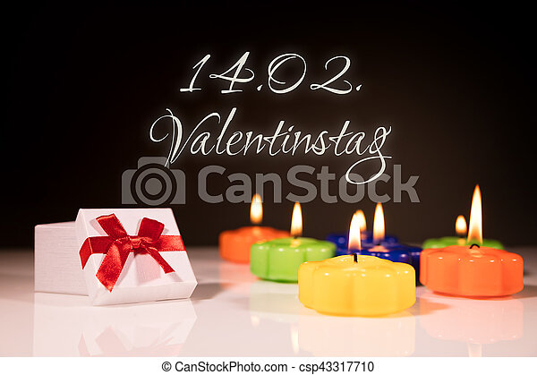 bougies, jour, brûlé, cadeau, valentine - csp43317710