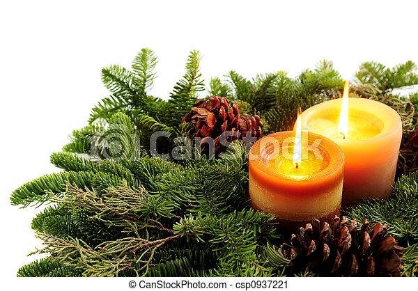 bougies, noël - csp0937221