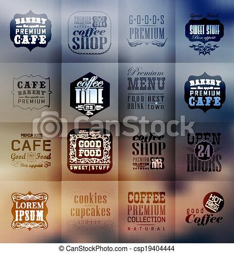 boulangerie, étiquettes, retro, typographie - csp19404444