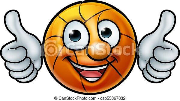 boule basket ball, mascotte