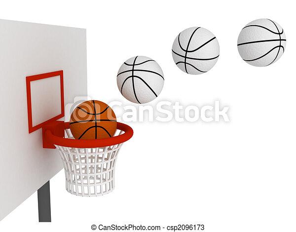 Boule Case Basket Ball Isole Balle Basket Fond Blanc
