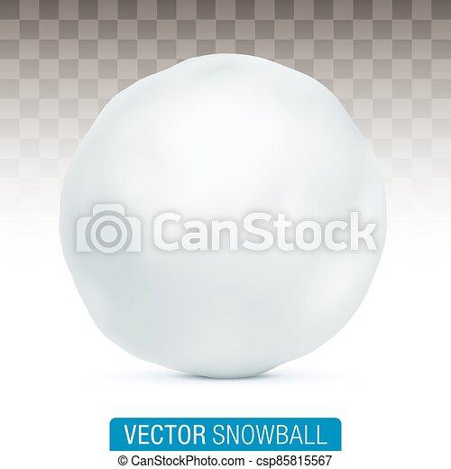 boule de neige, arrière-plan., vecteur, isolé - csp85815567