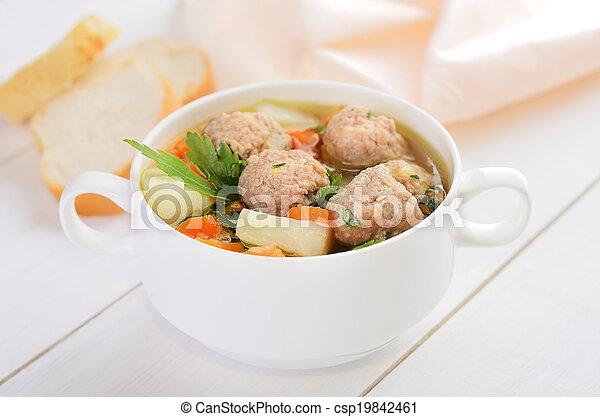 boulette viande, soupe - csp19842461