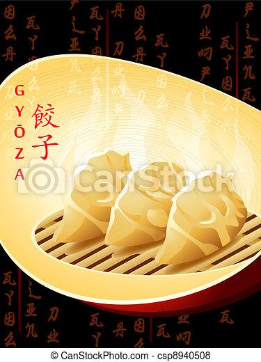 boulettes, chinois - csp8940508