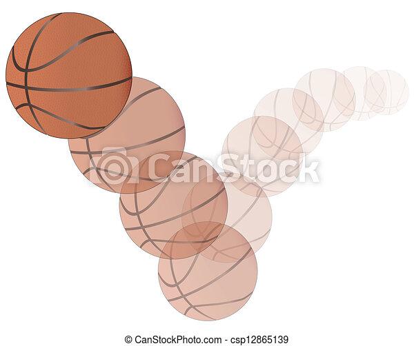 Bouncing Basketball - csp12865139