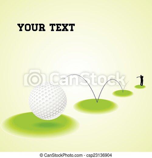 Bouncing golf ball - csp23136904