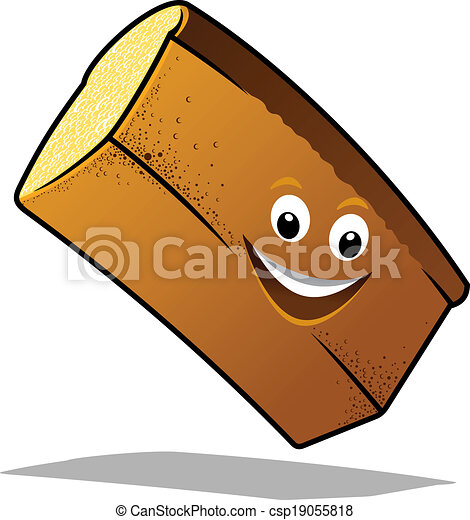 bouncing happy loaf of fresh bread bouncing happy loaf of vector rh canstockphoto ie loaf of bread pictures clip art loaves of bread and fish clipart