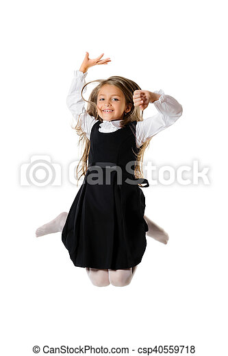 Bouncing little girl - csp40559718
