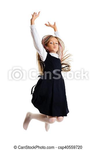 Bouncing little girl - csp40559720