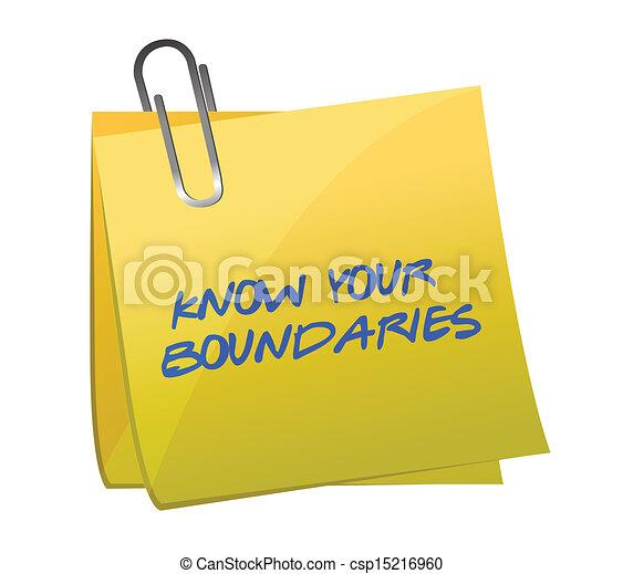 boundaries., デザイン, 知りなさい, イラスト, あなたの - csp15216960
