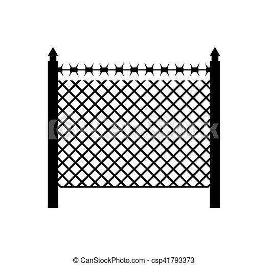 Boundary fence with barbed wire. border protection. protections.