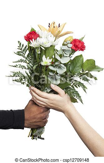 Bouquet Caresser Fleur Main Bouquet Fleur Caresser Il Main