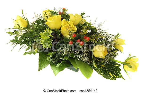 bouquet, fleur - csp4854140