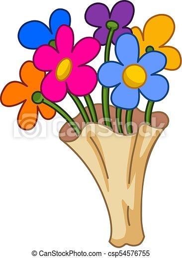 Bouquet Fleur Dessin Anime Canstock