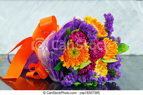 bouquet, fleur - csp18307395