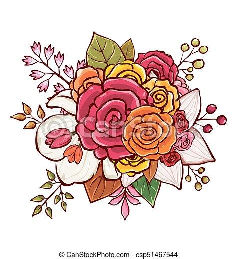 Bouquet Fleur Vecteur Illustration