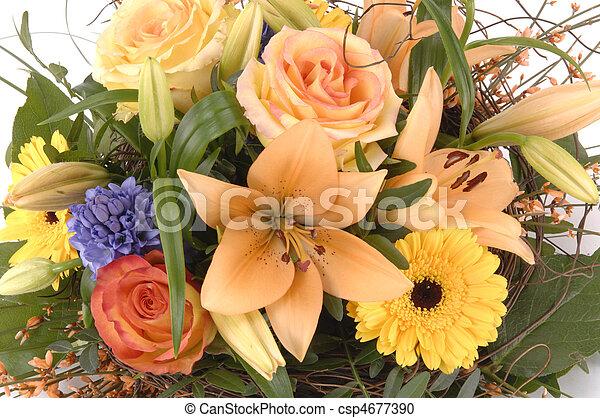 bouquet, fleurs - csp4677390