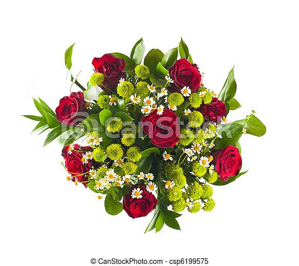 bouquet, fleurs, coloré - csp6199575