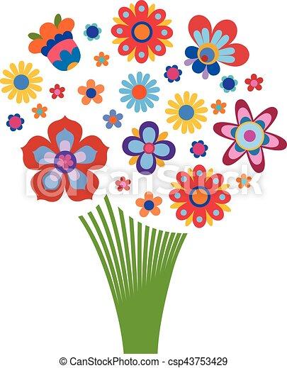 Bouquet fleurs formulaire color arrangement style - Dessins de bouquets de fleurs ...
