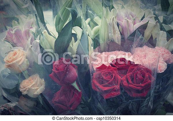 bouquet, fleurs - csp10350314