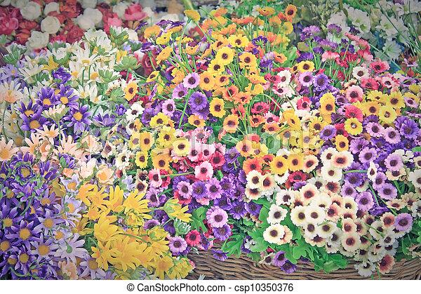 bouquet, fleurs - csp10350376