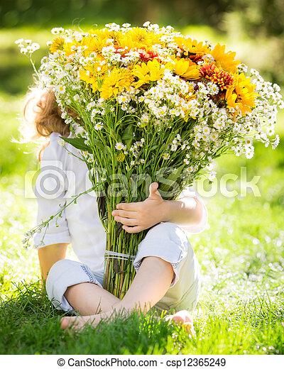 bouquet, fleurs - csp12365249