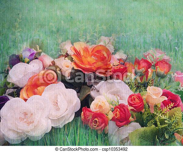bouquet, fleurs - csp10353492