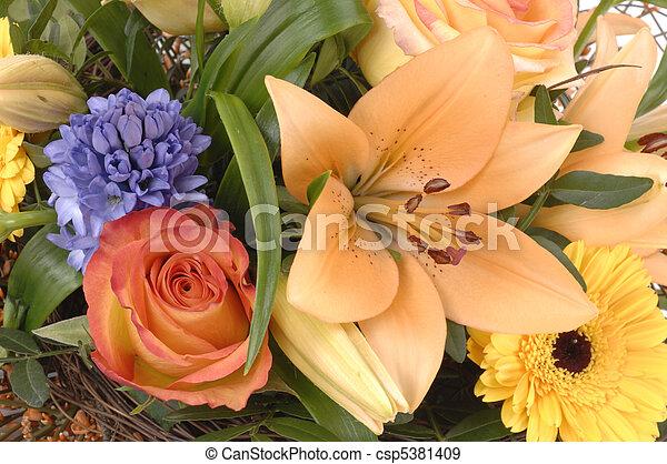 bouquet, fleurs - csp5381409