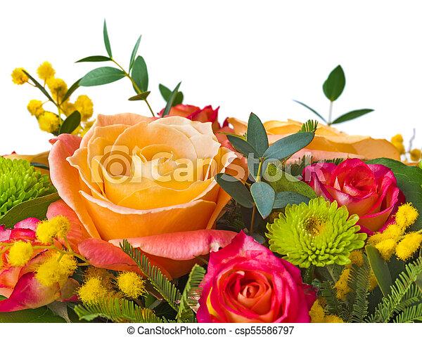 bouquet, fleurs - csp55586797