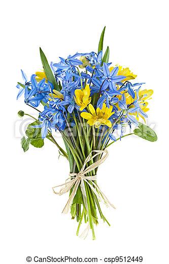 bouquet, fleurs ressort, frais - csp9512449