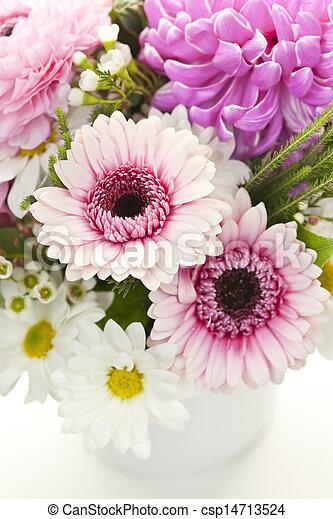 bouquet, fleurs roses - csp14713524