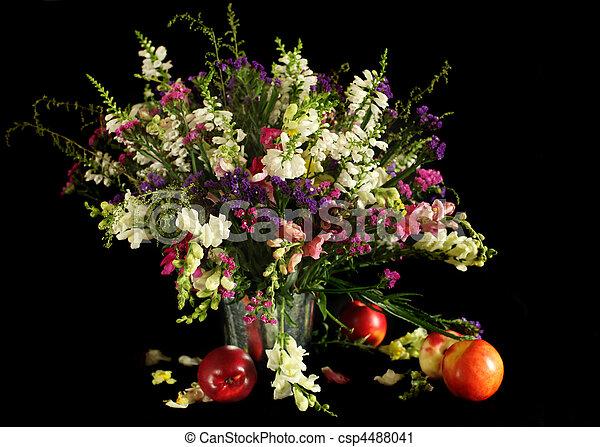 bouquet fleurs sauvages bouquet p ches fleurs sauvage photographie de stock rechercher. Black Bedroom Furniture Sets. Home Design Ideas