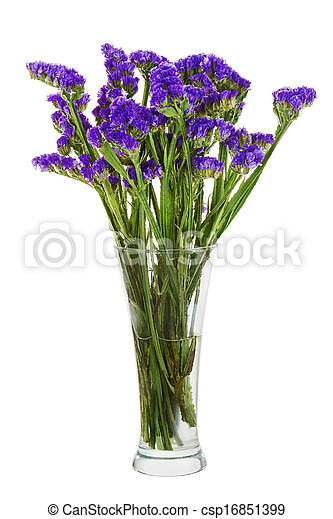 bouquet from statice flowers arrangement centerpiece in vase