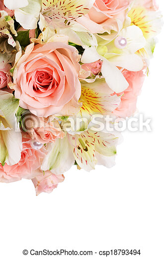 Bouquet of beautiful flowers a background - csp18793494