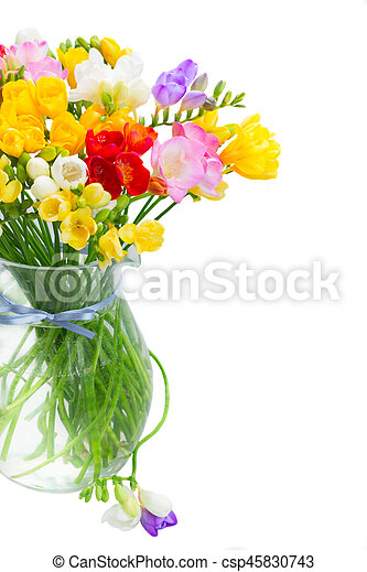 Bouquet of bright spring flowers bouquet of bright spring freesia bouquet of bright spring flowers csp45830743 mightylinksfo