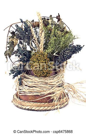 Bouquet of dry herbs - csp6475868