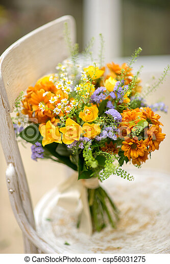 Bouquet of flowers as background. - csp56031275