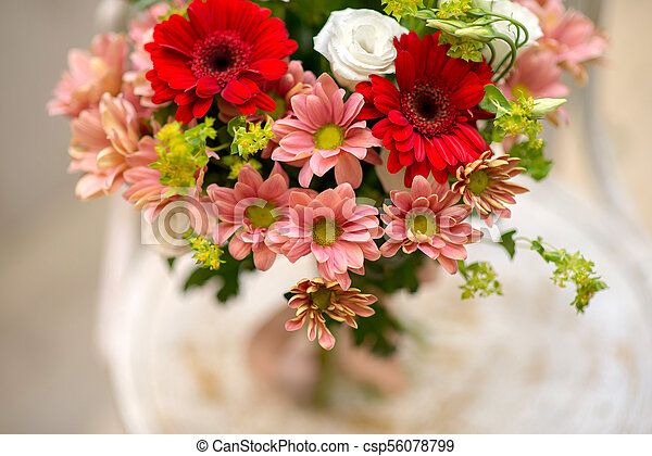 Bouquet of flowers as background. - csp56078799