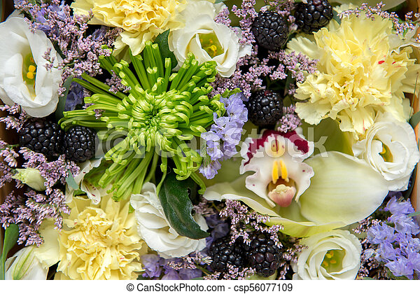 Bouquet of flowers as background. - csp56077109