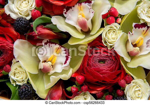 Bouquet of flowers as background. - csp56266433