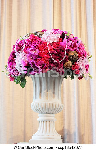 Bouquet of flowers in a vase - csp13542677