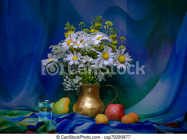 bouquet of flowers in a vase - csp70293977