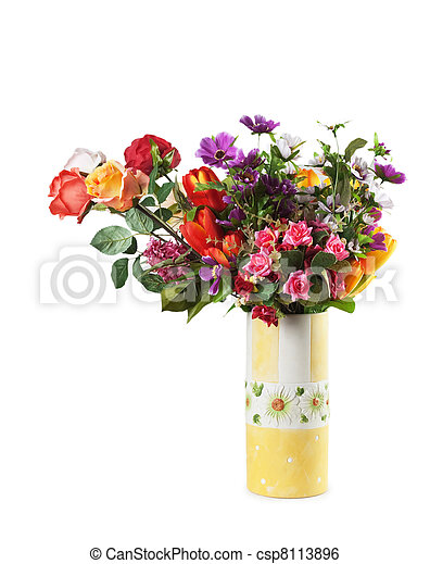 bouquet of flowers in a vase - csp8113896