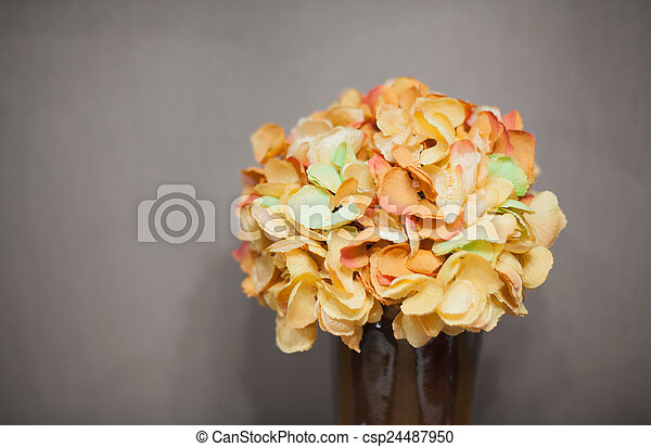 Bouquet of flowers in a vase - csp24487950