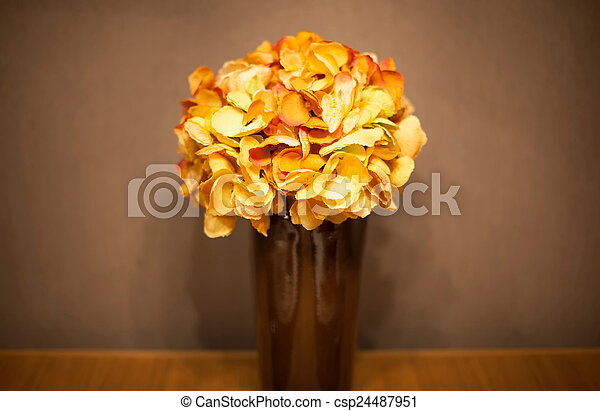 Bouquet of flowers in a vase - csp24487951
