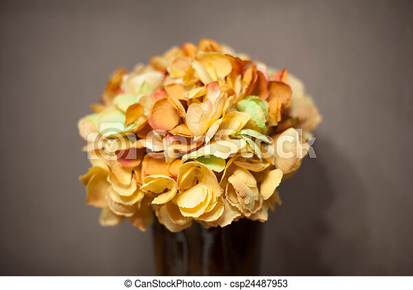 Bouquet of flowers in a vase - csp24487953