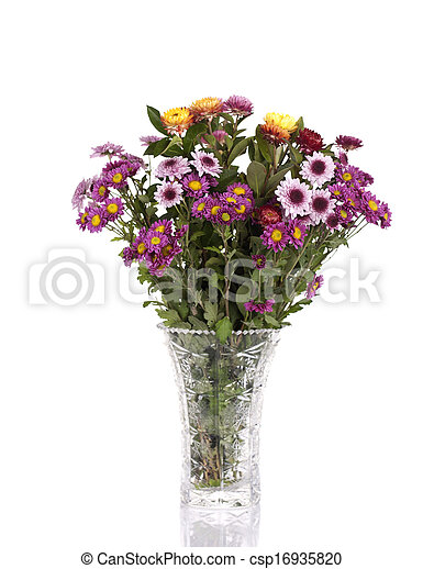 BOUQUET OF FLOWERS IN A VASE - csp16935820