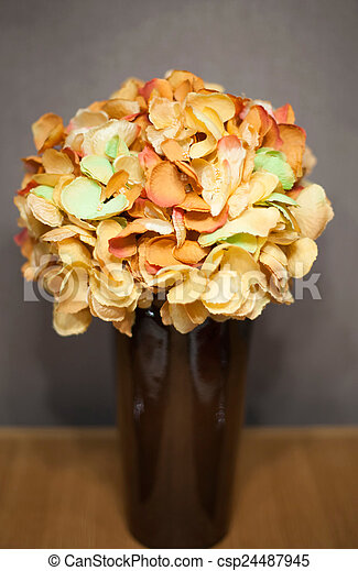 Bouquet of flowers in a vase - csp24487945